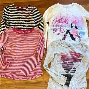 Girls size M long sleeve t shirts